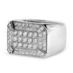 1.5 Ct Natural Untreated Diamond Solid Gold Men'S Ring Certified