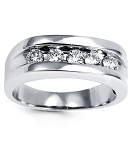 0.35 Ct Natural Untreated Diamond Solid Gold Men'S Ring Certified