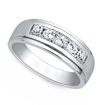 0.4 Ct Natural Untreated Diamond Solid Gold Men'S Ring Certified