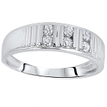 0.42 Ct Natural Untreated Diamond Solid Gold Men'S Ring Certified