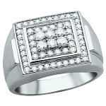 1.75 Ct Natural Untreated Diamond Solid Gold Men'S Ring Certified