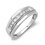 0.55 Ct Natural Untreated Diamond Solid Gold Men'S Ring Certified