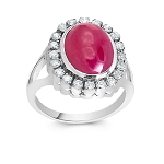 2.8 Ct Natural Untreated Diamond Ruby Solid Gold Men'S Ring Certified