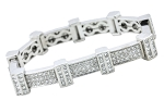 Eternity Bracelets 6.02 Ct Natural Untreated Diamond Solid Gold Natural Certified