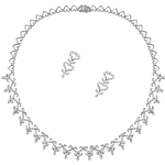 Diamond Necklace Set Design 5.85 Ct  Natural Certified Diamond Solid Gold Engagement Wedding