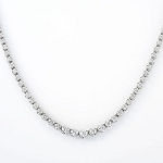 Diamond Tennis Necklace 7.5 Ct Natural Certified Diamond Solid Gold Anniversary