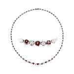 Tennis Necklaces 7.5 Ct Natural Diamond Garnet Solid Gold Engagement String Certified
