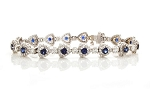 Diamond Gemstone Bracelets 8 Ct Natural Gemstone Solid Gold Natural Certified