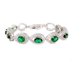 diamond Gemstone Tennis Bracelets 8.7 Ct Emerald Solid Gold Natural Certified