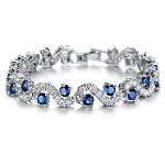 Diamond Gemstone Bracelet 4.82 Ct Natural Diamond B. Sapphire Solid Gold Natural Certified
