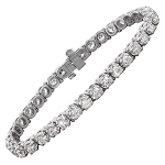Bracelets for Women 7 Ct Natural Diamond Solid Gold Natural Certified
