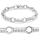 Beautiful Diamond Bracelets 2 Ct Solid Gold Natural Certified