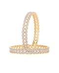 Diamond Eternity Bangle Pair 6.48 Ct Solid Gold Natural Certified