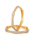 Diamond Eternity Bangle Pair 5.76 Ct Natural Untreated Solid Gold Natural Certified