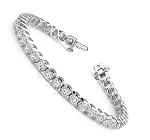 Bracelets for Women 4.02 Ct Natural Untreated Diamond Solid Gold Natural Certified
