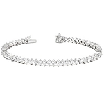 Bracelets for Women 3 Ct Natural Untreated Diamond Solid Gold Natural Certified