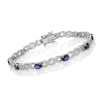Gemstone Bracelets 11.35 Ct Natural Diamond B. Sapphire Solid Gold Natural Certified
