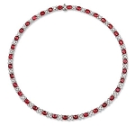 Diamond Solitaire Necklace 40.5 Ct Natural Diamond Ruby Solid Gold String Certified