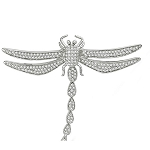 Bridal Brooch 2 Ct Solid Gold Fine Jewelry Natural Certified
