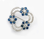 Bridal Brooches 3.3 Ct B. Sapphire Solid Gold Fine Jewelry Natural Certified