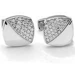 0.7 Ct Natural Untreated Diamond Solid Gold Certified Cufflink
