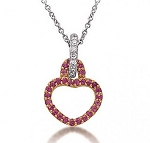 Gold Pendant Necklace 0.45 Ct Diamond Solid Gold Natural Certified