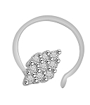 Diamond Nose Ring 0.18 Ct Round Shape Natural Certified Solid White Gold