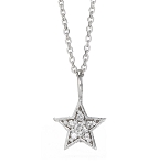 Diamond Pendant Necklace 0.21 Ct Solid Gold Natural Certified