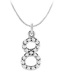 Gold Pendant Necklace 0.30 Ct Diamond Natural Certified