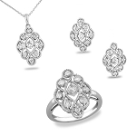Latest Diamond Pendant Sets 1.08 Ct Solid Gold Natural Certified