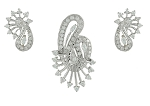 Diamond Pendant Set 1.44 Ct Solid Gold Natural Certified