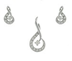 Diamond Pendant Set Designs 0.55 Ct Solid Gold Natural Certified
