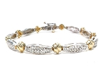 Bracelets for Women 2 Ct Natural Untreated Diamond Solid Gold Natural Certified