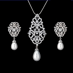 Diamond Pendant Set Designs 12.75 Ct Pearl Solid Gold Natural Certified