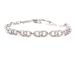 Eternity Bracelets 3 Ct Natural Untreated Diamond Solid Gold Natural Certified