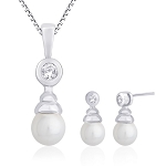 Diamond Pendant Set Designs 0.44 Ct Solid Gold Natural Certified