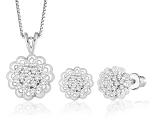 Diamond Pendant Set 1.15 Ct Solid Gold Natural Certified