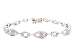 Eternity Bracelets 2.55 Ct Natural Untreated Diamond Solid Gold Natural Certified