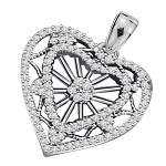 Diamond Pendant Charms 1.5 Ct Solid Gold Natural Certified