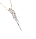 Fine Necklace & Pendant 0.7 Ct diamond  Solid Gold Natural Certified