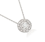 Diamond Pendant Necklace 0.3 Ct Solid Gold Natural Certified
