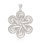 Gold Pendant 2.4 Ct Diamond Wedding Anniversary Natural Certified