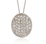 Diamond Pendant Necklace 0.6 Ct Solid Gold Natural Certified