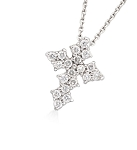 Diamond Pendant Necklace 0.38 Ct Solid Gold Natural Certified