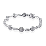 Beautiful Diamond Bracelets 1.5 Ct Natural Untreated Solid Gold Natural Certified