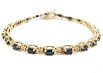 Eternity Bracelets 9.9 Ct Natural Untreated Diamond B. Sapphire Solid Gold Natural Certified