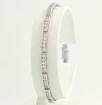 Eternity Bracelets 3.5 Ct Natural Untreated Diamond Solid Gold Natural Certified