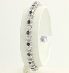 Bracelets for Women 2.8 Ct Natural Untreated Diamond B. Sapphire Solid Gold Natural Certified