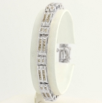 Eternity Bracelets 2.5 Ct Natural Untreated Diamond Solid Gold Natural Certified