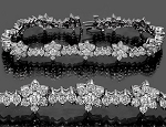 Eternity Bracelets 3.25 Ct Natural Untreated Diamond Solid Gold Natural Certified